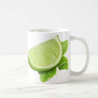 Piece of lime coffee mug