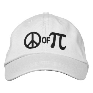 Piece of pi geek humor embroidered baseball cap