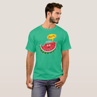 Piece of watermelon expressing pain after a bite T-Shirt