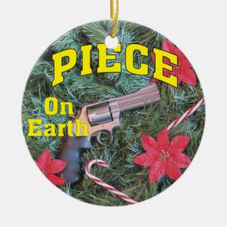 Piece on Earth Gun Christmas Ornament