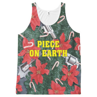 Piece On Earth Gun Ugly Christmas Sweater All-Over-Print Tank Top