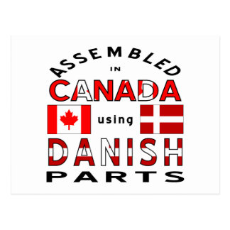 Pièces du Canada du danois Carte Postale