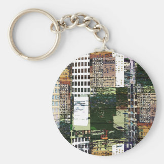 Pieces of A City Basic Round Button Keychain