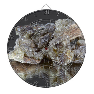 Pieces of natural frankincense dartboards