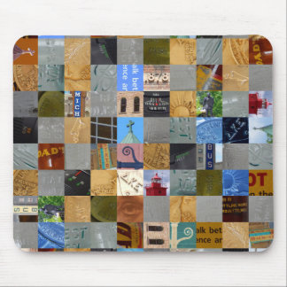 Pieces of Pictures Collage Mouse Pad