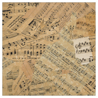 Pieces of Vintage Music ID389 Fabric