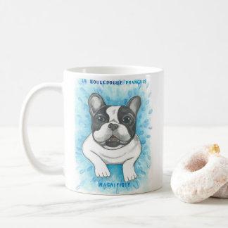 Pied blue French Bulldog mug
