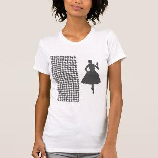 Pied-de-poule moderne de charbon de bois avec la t-shirt