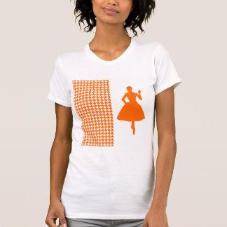 Pied-de-poule moderne de mandarine avec la t-shirt