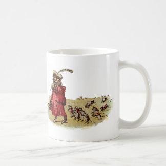 Pied Piper Cat Leading Rats Coffee Mug