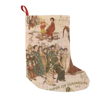 Pied Piper Collage Small Christmas Stocking