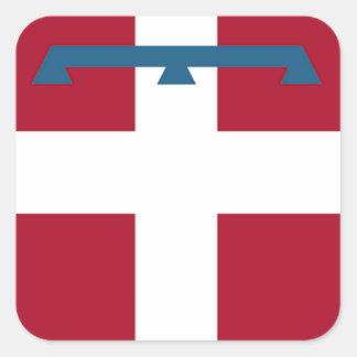 Piedmont (Italy) Flag Square Sticker