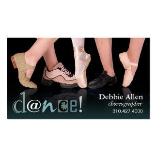 """""""Pieds de danse"""" - chorégraphe, danseur, instructe Carte De Visite"""