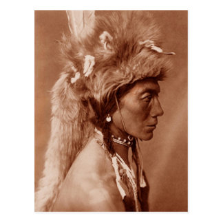 Piegan Blackfoot Native American Man Postcard