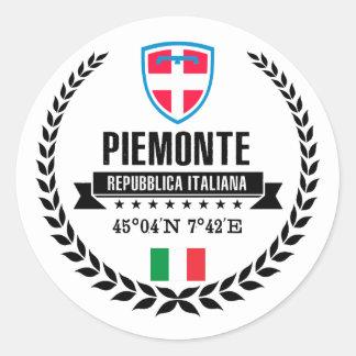 Piemonte Classic Round Sticker