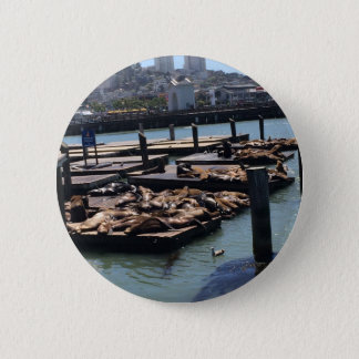 Pier 39 San Francisco California 2 Inch Round Button