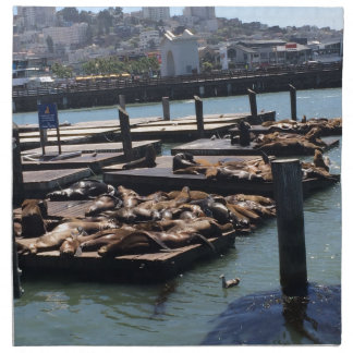 Pier 39 San Francisco California Napkin