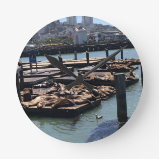 Pier 39 San Francisco California Round Clock