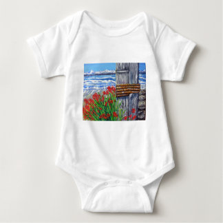 Pier and Flowers Baby Bodysuit