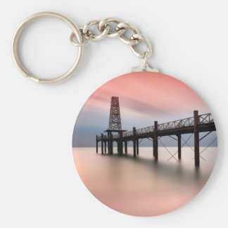 Pier at sunset keychain