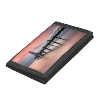 Pier at sunset tri-fold wallet