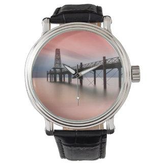 Pier at sunset watch