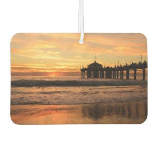 Pier beach sunset air freshener