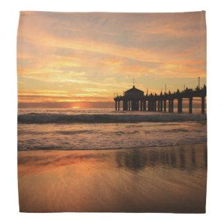 Pier beach sunset bandana