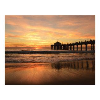 Pier beach sunset flyer