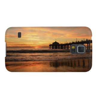 Pier beach sunset galaxy s5 cover