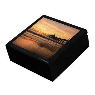 Pier beach sunset gift box