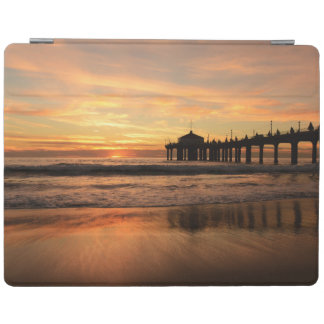Pier beach sunset iPad cover