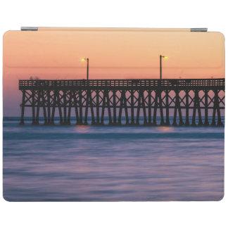 Pier beach sunset iPad cover