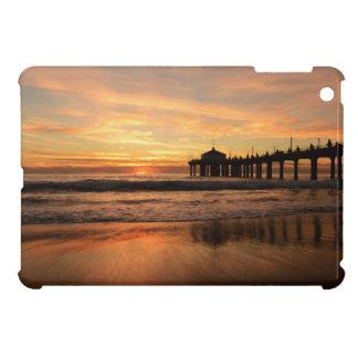 Pier beach sunset iPad mini cover