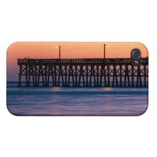 Pier beach sunset iPhone 4 case