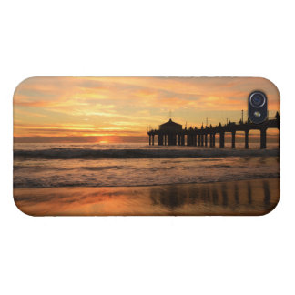 Pier beach sunset iPhone 4 cover