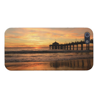 Pier beach sunset iPhone 5 case