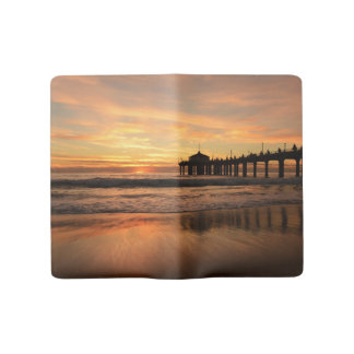 Pier beach sunset large moleskine notebook