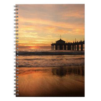 Pier beach sunset notebooks