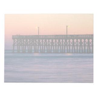 Pier beach sunset notepads