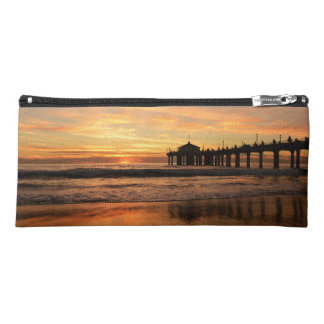 Pier beach sunset pencil case