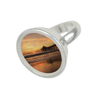 Pier beach sunset photo ring