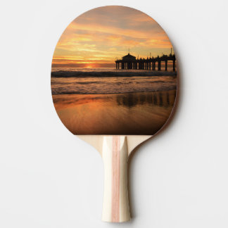 Pier beach sunset ping pong paddle