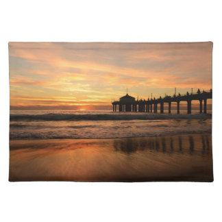 Pier beach sunset placemat