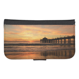 Pier beach sunset samsung s4 wallet case
