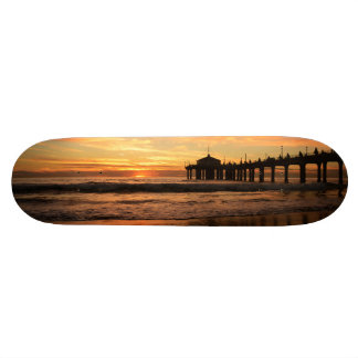 Pier beach sunset skate board deck