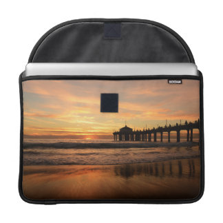 Pier beach sunset sleeve for MacBook pro