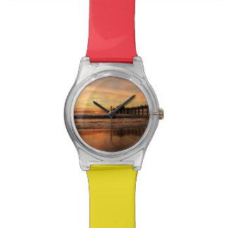 Pier beach sunset watch