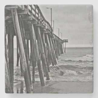 Pier by Shirley Taylor Stone Beverage Coaster
