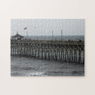 Pier Fishing - Oak Island, NC Jigsaw Puzzle